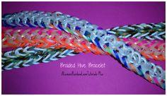 Rainbow Loom Bracelets Easy, Loom Band Bracelets, Rainbow Loom Bands, Rubber Band Bracelet, Monster Tail Bracelets, Monster Tail Loom, Rainbow Loom Patterns, Rainbow Crafts, Bracelet Tutorial