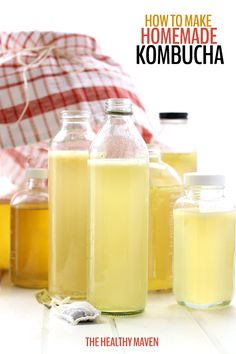 Have you ever wondered how to make homemade kombucha? Save your money and brew your own with this easy tutorial teaching you how PLUS two recipes for flavor variations.