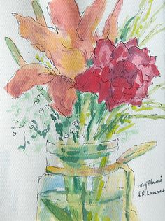 July 15, 2012 Watercolor Paintings To See! A Monhegan Island Painting! | Plein Aire in Maine