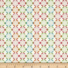 Fabric Freedom Christmas Character Snowflakes Turquoise from @fabricdotcom  Designed by Fabric Freedom, this cotton print fabric is perfect for quilting, apparel and home decor accents. Colors include orange, green, aqua, pink and white.