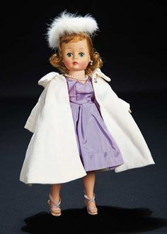 The Robert Tonner Collection: 103 Elegant Cissette in White Coat and Fur Hat by Madame Alexander Antique Dolls, Vintage Dolls, Vintage Madame Alexander Dolls, Velvet Suit, Glamour Dolls, Little Doll, Hello Dolly, Vintage Glamour, Beautiful Dolls