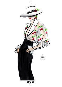 #fashionillustration by #lindazoon - collection by #YvesSaintLaurent 2001