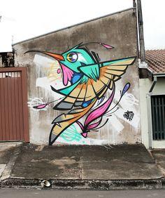 Super Ideas for street art stickers galleries Murals Street Art, Graffiti Wall Art, Art Mural, Street Art Graffiti, Airbrush Art, Pop Art, Urbane Kunst, Graffiti Characters, Street Artists