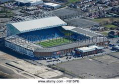 An aerial view of Elland Road, home of Leeds United FC - Stock Photo