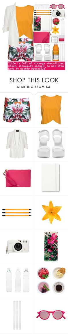 """""""Absurdities"""" by valdep ❤ liked on Polyvore featuring Ted Baker, NLY Trend, River Island, Nly Shoes, FOSSIL, Moleskine, American Apparel, Clips, Lomography and Holga"""