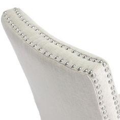Harrowgate Beige Linen Modern Dining Chairs (Set of 2) | Overstock.com