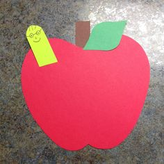 Apple, worm, back to school, toddler craft