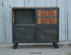 Bar Cart/Liquor Cabinet Vintage Industrial by leecowen www.Combine9.com