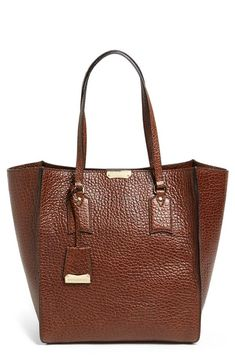 Burberry 'Woodbury - Medium' Leather Tote available at Burberry Handbags, Tote Handbags, Purses And Handbags, Burberry Tote, Burberry Prorsum, Clutch Bags, Tote Bags, Beautiful Handbags, Beautiful Bags