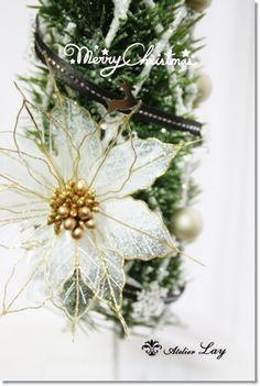 クリスマスツリー #アメリカンフラワー #Americanflower #クリスマスツリー #Christmas #Xmas #ポインセチア…