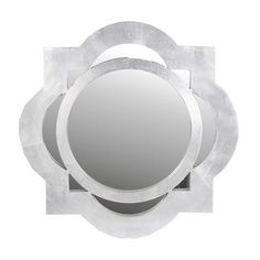 Found it at Joss & Main - Kourtney Wall Mirror Silver Framed Mirror, Framed Mirrors, Floor Mirror, Wall Mirror, Curve Design, Chic Living Room, Geometric Wall, New Wall, Home Decor Outlet