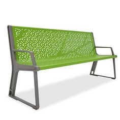 Airi Leaf 6' Contour Bench | Benches | Upbeat.com