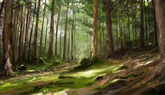 'Pine Forest' by ~MittMac http://mittmac.deviantart.com/art/Pine-forest-study-287394627 ★ || CHARACTER DESIGN REFERENCES | キャラクターデザイン  • Find more artworks at https://www.facebook.com/CharacterDesignReferences & http://www.pinterest.com/characterdesigh and learn how to draw: #concept #art #animation #anime #comics || ★
