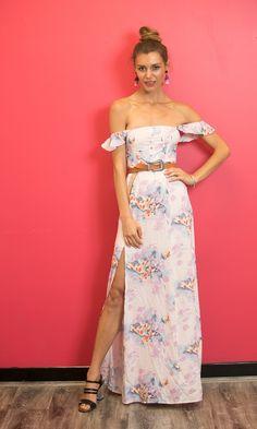 c569f3e0ba Adriana off the shoulder maxi flowy dress in floral. Cute Summer Dresses ...