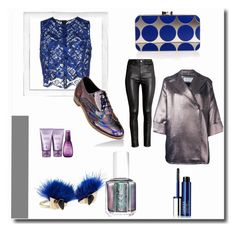 """Get That Metallic Feel"" by liyahmystyle ❤ liked on Polyvore featuring Clinique, MSGM, Manolo Blahnik, Gianluca Capannolo, H&M, Essie, Fendi, Alterna and Polaroid"