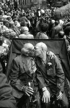 Axel & Eigil Axgil, 1st gay couple in the world to enter into a registered partnership October 1st, 1989, Copenhagen Town Hall Square