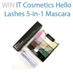 Giveaways : Win IT Cosmetics Hello Lashes 5-in-1 Mascara : Win IT Cosmetics Hello Lashes 5-in-1 Mascara  The third giveaway isn't really attached to a post, just an easy giveaway tout