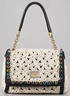 Dolce and Gabbana crochet purse