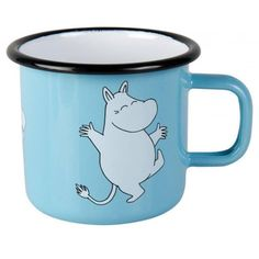 Skyblue mug featuring Moomintroll. Extremly durable and easy to take care of, which makes it perfect for your home. Enjoy your coffee break with Moomin. Muurla