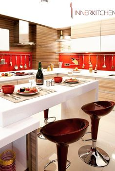 #Interior #design #decoration #home Be inspired by these fabulous and daring kitchen colour schemes