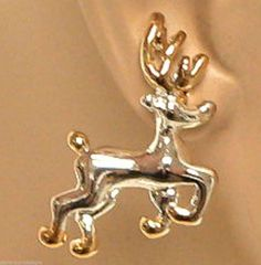 Reindeer Earrings Jewelry Rudolph Santa Christmas Holiday Roof Top Sleigh Rides #DavenportDesigns #Stud