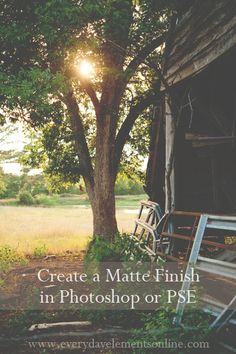 Free action to create a matte finish in Photoshop or PSE via @amandapadgett