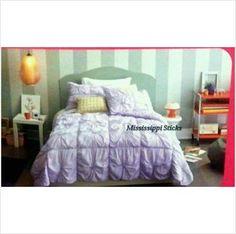 xhilaration Full Queen Quilt coverlet Set Lavender Knot shabby chic bedding on eBid United States