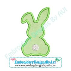 rabbit embroidery design applique – Vyhľadávanie Google Applique Stitches, Border Embroidery, Monogram Fonts, Machine Embroidery Designs, Pattern Design, 4x4, Quilts, Bunny Rabbit, Easter