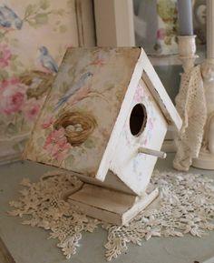 SOLD Handpainted Birdhouse