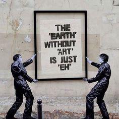 Best Ideas For Urban Street Art Inspiration Banksy Street Art Graffiti, Murals Street Art, Street Art Quotes, Stencil Street Art, Street Art Utopia, Arte Banksy, Bansky, Banksy Graffiti, Graffiti Artwork