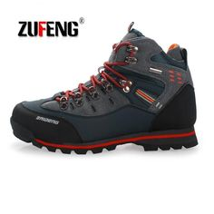 73aaab5c4 Waterproof Hiking Shoes Suede Mountain Climbing Quality Outdoor Sneakers  For Men Trekking Shoes Breathable Hiking Hunting
