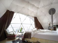 Must go some day - GEODESIC DOME HOTEL IN THE SWISS ALPS
