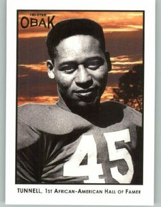 2011 TRISTAR Obak #81 Emlen Tunnell - Green Bay Packers (1st African-American Hall of Famer) (Football Cards) by TRISTAR Obak. $0.88. 2011 TRISTAR Obak #81 Emlen Tunnell - Green Bay Packers (1st African-American Hall of Famer) (Football Cards)