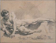 "ganymedesrocks: "" Académie d'homme nu, 1739 - An Academic Drawing Jean-Marc Nattier – "" Amazing Drawings, Colorful Drawings, Art Drawings, Figure Drawings, Anatomy Sketches, Anatomy Drawing, Figure Drawing Reference, Anatomy Reference, Body Drawing"