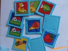 LÁTKOVÉ PEXESO bez ŠITÍ Sewing For Kids, Pot Holders, Coasters, Diy, Bebe, Build Your Own, Bricolage, Potholders, Coaster