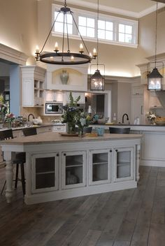 Rustic Kitchen with Hardwood Flooring