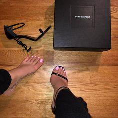 Image of Sexy Heels Sneaker Heels, Shoes Sneakers, Shoes Heels, Ysl Heels, Pumps, Stilettos, Cute Shoes, Me Too Shoes, Sexy Heels