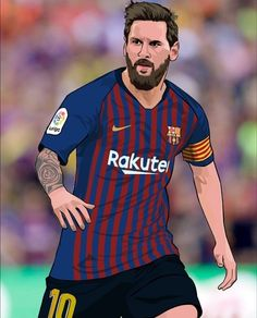 Lionel Messi Barcelona, Barcelona Football, Football Player Drawing, Football Players, Messi And Ronaldo, Messi 10, Fifa Football, Football Art, Lionel Messi Wallpapers