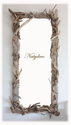 Driftwood Crafts and accessories to help with your driftwood projects. Driftwood Furniture, Driftwood Mirror, Driftwood Projects, Wooden Decor, Wooden Diy, Liberty Furniture, Diy Holz, Beach Crafts, Winter Garden
