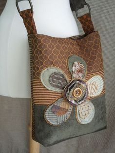 CROSSBODY HOBO BAG  Recycled Upholstery Fabric by WhimsyEyeDesigns, $58.00
