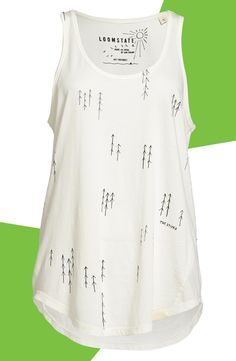 Perfect organic cotton tank to pair with some skinny jeans, blazer and some pop-of-color heels!
