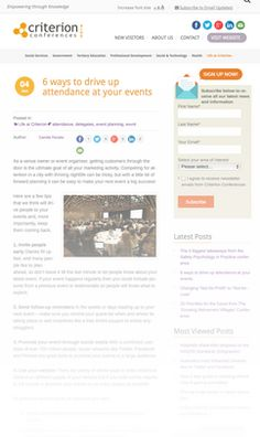 6 ways to drive up attendance at your events