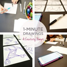 Drawing Ideas: One Minute Drawings