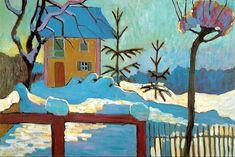 "Gabriele Münter _ ""A House in the Winter Sun"" 1909"
