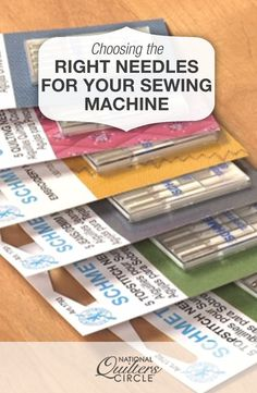 Choosing the Right Sewing Machine Needles. For more sewing patterns, sewing tips and sewing tutorials visit http://you-made-my-day.com/