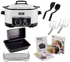 Ninja 3-in-1 6 qt. Nonstick Cooking System with Cookbook and Accessories This is the whole thing from QVC