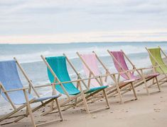 beach chairs - I wish I were sitting in one right now.