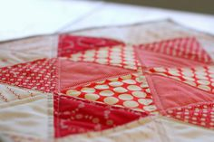 Triangle star quilt block tutorial - Diary of a Quilter
