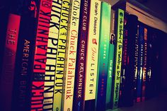 Books + Chuck Palahniuk, this is basically my bookshelf