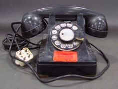 Bell System Black Vintage Rotary Phone